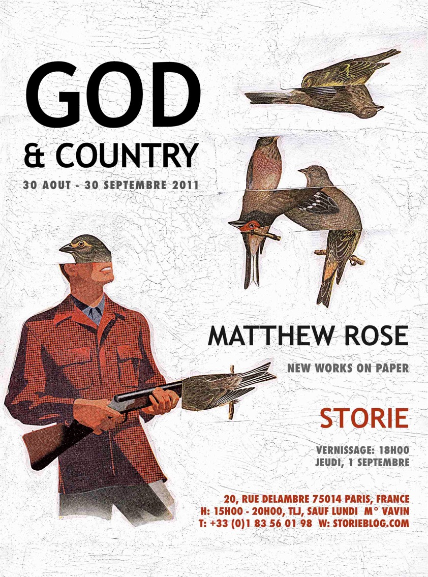 GOD AND COUNTRY, major new works on paper by Matthew Rose at Storie