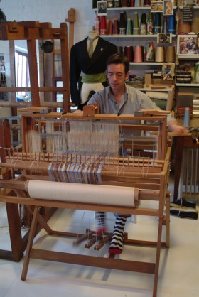 Nick at his loom